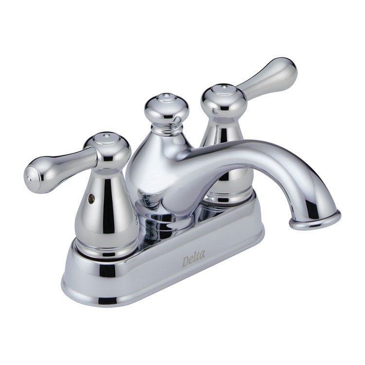 Ultra Faucets UF08042C Two-Handle Chrome Non-Metallic Series Lavatory Faucet