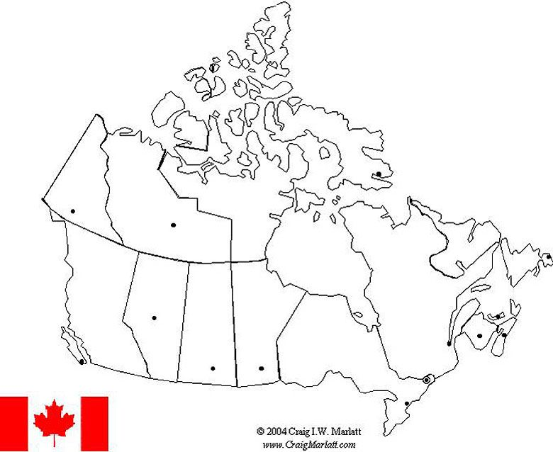 canada map label provinces and capitals