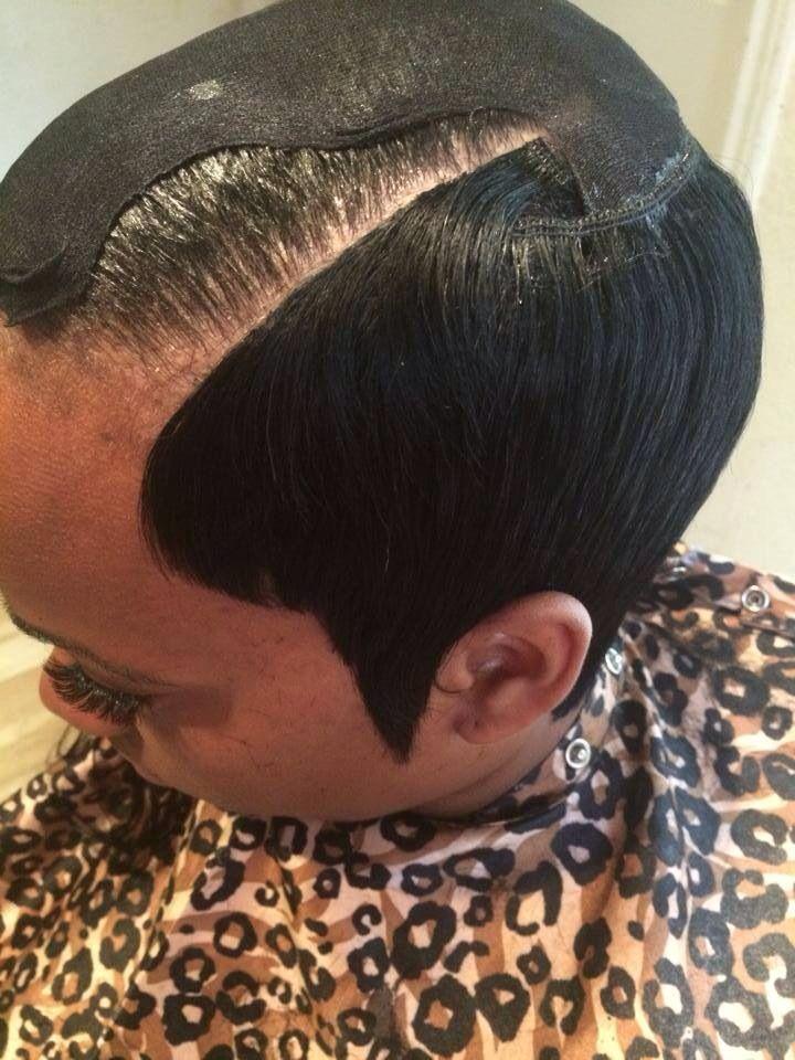 Invisible part quick weave #WeaveHairstylesSewIn | Quick weave hairstyles, Short weave ...