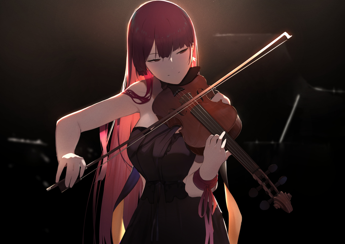 Wa2000 Violin Girls Frontline Anime Art Girl Anime Music