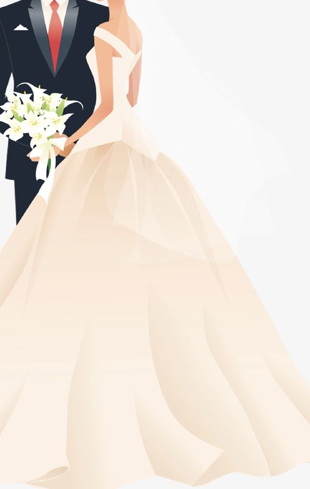 Bride And Groom Love Lily Wedding Element Wedding Wedding