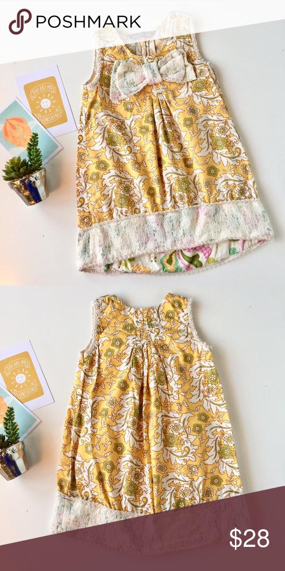 Mustard Pie yellow floral lemonade dress sz 8 excellent condition. No fade, stai...  #Condition #Dress #Excellent #fade #Floral #Lemonade #mustard #Pie #stai #Yellow