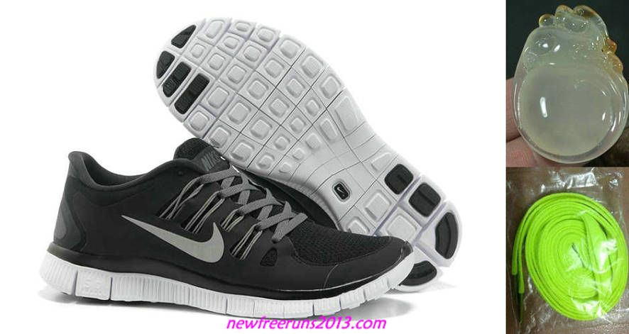 info for 4af22 274a0 Mens Nike Free Runs 5.0 Black Grey Silver Shoes