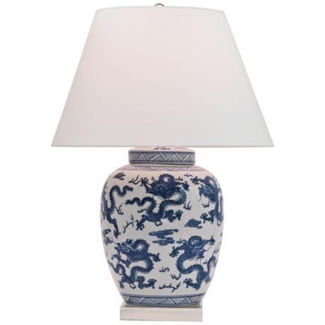 Vintage Large Blue Midcentury Pottery Table Lamp Table Lamp Pottery Lamp Lamp