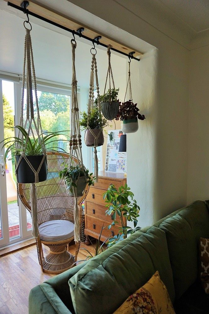 ikea hack with fintorp rail hanging plants (wall herb ...