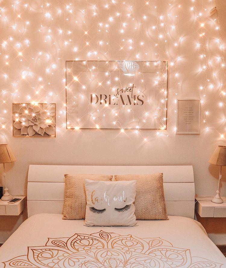 Fairy Lights Fairy Lights Bedroom Room Decor Decoration Christmas Lights Diy Small Room Fairy Lights Bedroom Room Inspiration Bedroom Room Ideas Bedroom