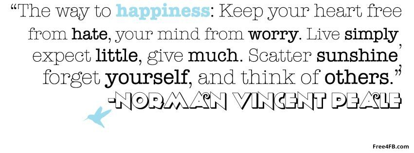 When Your Heart Is Happy Your Mind Is Free: Happiness Timeline Cover: The Way To Happiness: Keep The