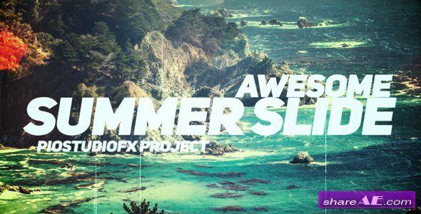 Videohive Awesome Summer Slide   after effects   Summer slide