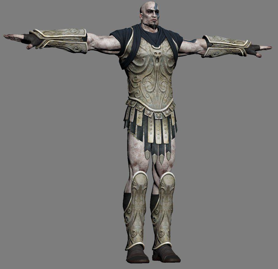 kratos morpheus armor 3d model god of war 3 by hacker7utd