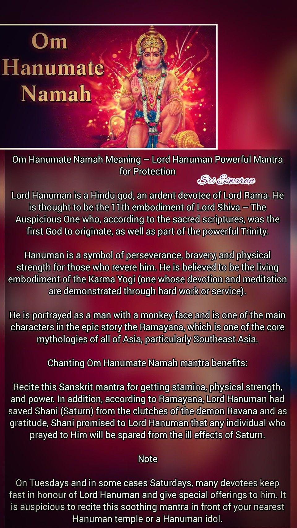 Om Hanumate Namah Meaning – Lord Hanuman Powerful Mantra for
