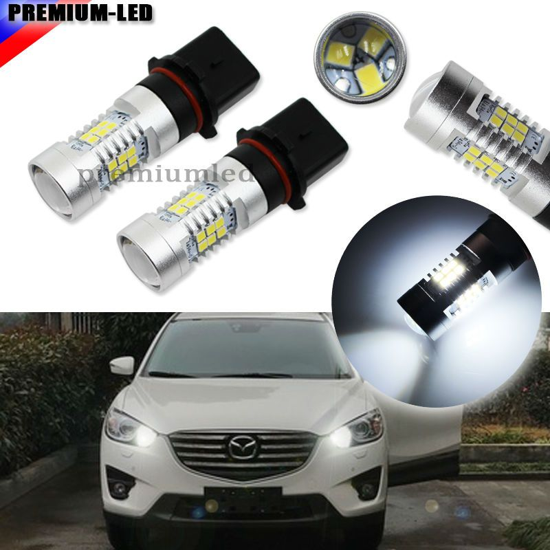 2pcs Error Free Canbus Xenon White 21 Smd 2835 P13w Sh24w Replacement Bulbs For Led For Car Mazda Cx 5 Daytime Running Lights Car Lights Running Lights Bulb