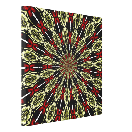 #Red and #Gold #StainedGlassWindow #Kaleidoscope Gallery Wrap Canvas...#art  #artwork  #prints  #posters  #RoseSantuciSofranko #Artists4God    #Artist4God  #InteriorDecoration  #InteriorDecorating  #home   #InteriorDesign  #Zazzle  #homedecor   #wrappedcanvas  #custom    #customizable #abstacts