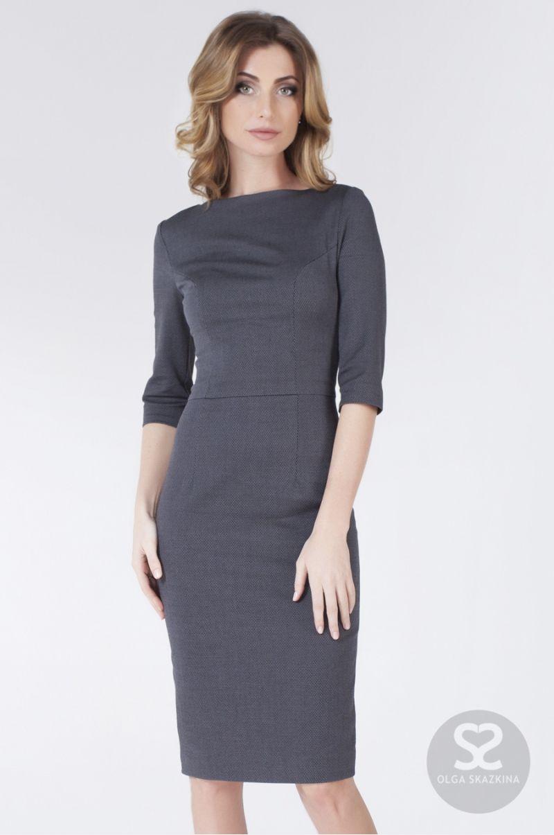 72b6d29aaf3 Платье футляр с рукавом три четверти из костюмной ткани