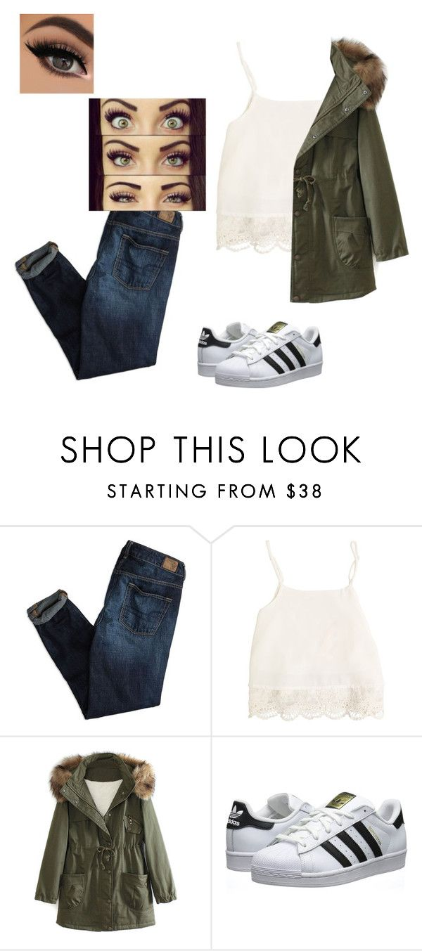 """❤️❤️❤️"" by haileycouture ❤ liked on Polyvore featuring American Eagle Outfitters, Swell, WithChic, adidas Originals, women's clothing, women's fashion, women, female, woman and misses"