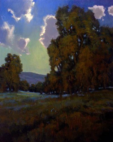 Moonlit Meadow Original Fine Art For Sale C David Forks