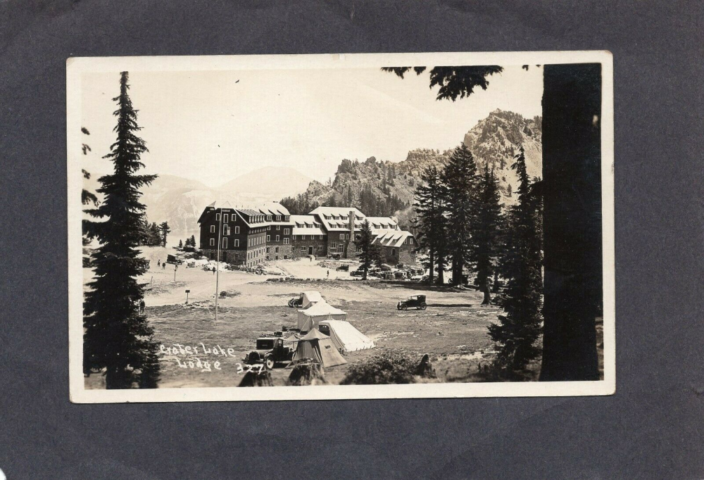 RPPC Real Photo Postcard: Crater Lake Lodge, Oregon | eBay