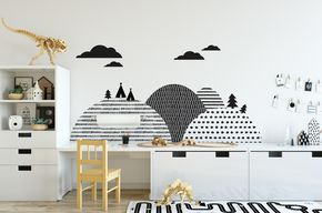 Scandinavian Hills - Wall Sticker (wall protector)
