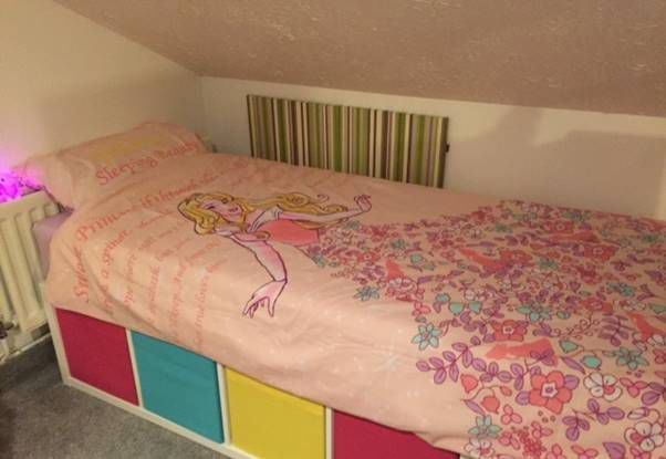 single bed using ikeau0027s kallax 1x4 units childu0027s single bed hack a step
