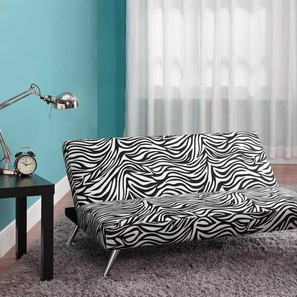Zebra Sofa For Black And White Living Room Decorating