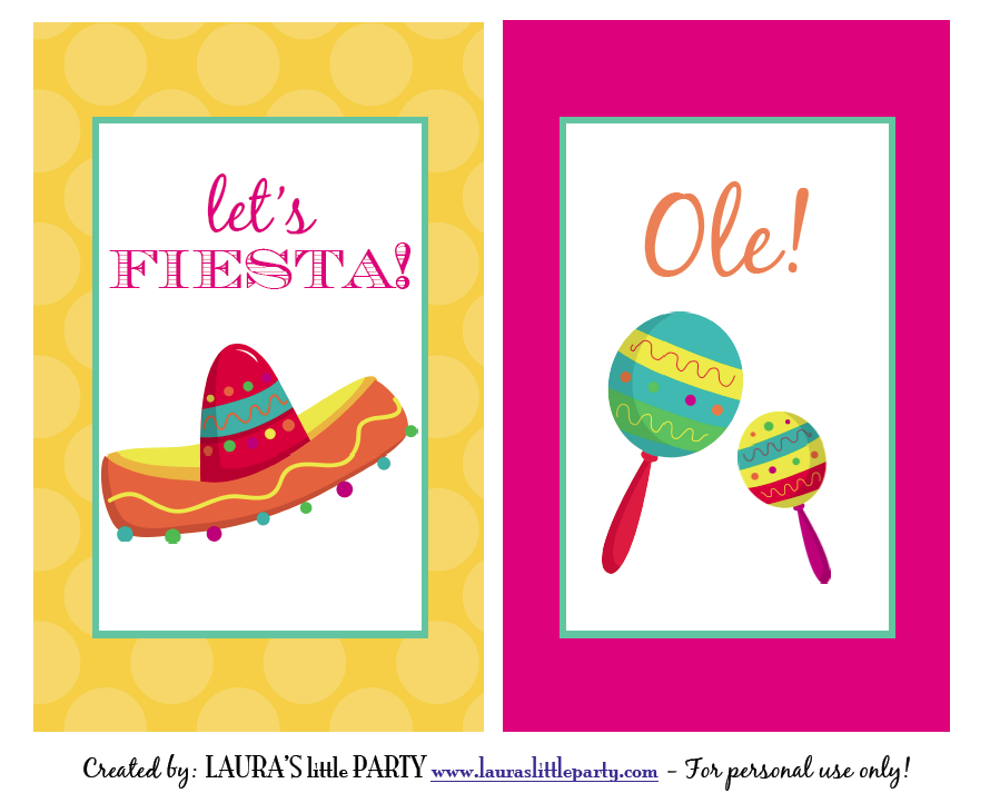 Laura S Little Party Fiesta Party Decorations Party Printables