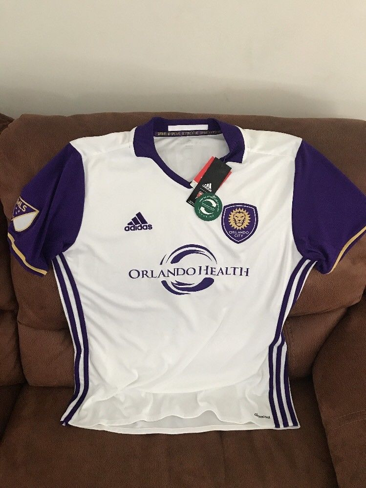 f8a1d976f adidas orlando city Sc Cyle Larin #9 mls soccer jersey NEW With Tags size L  mens | eBay