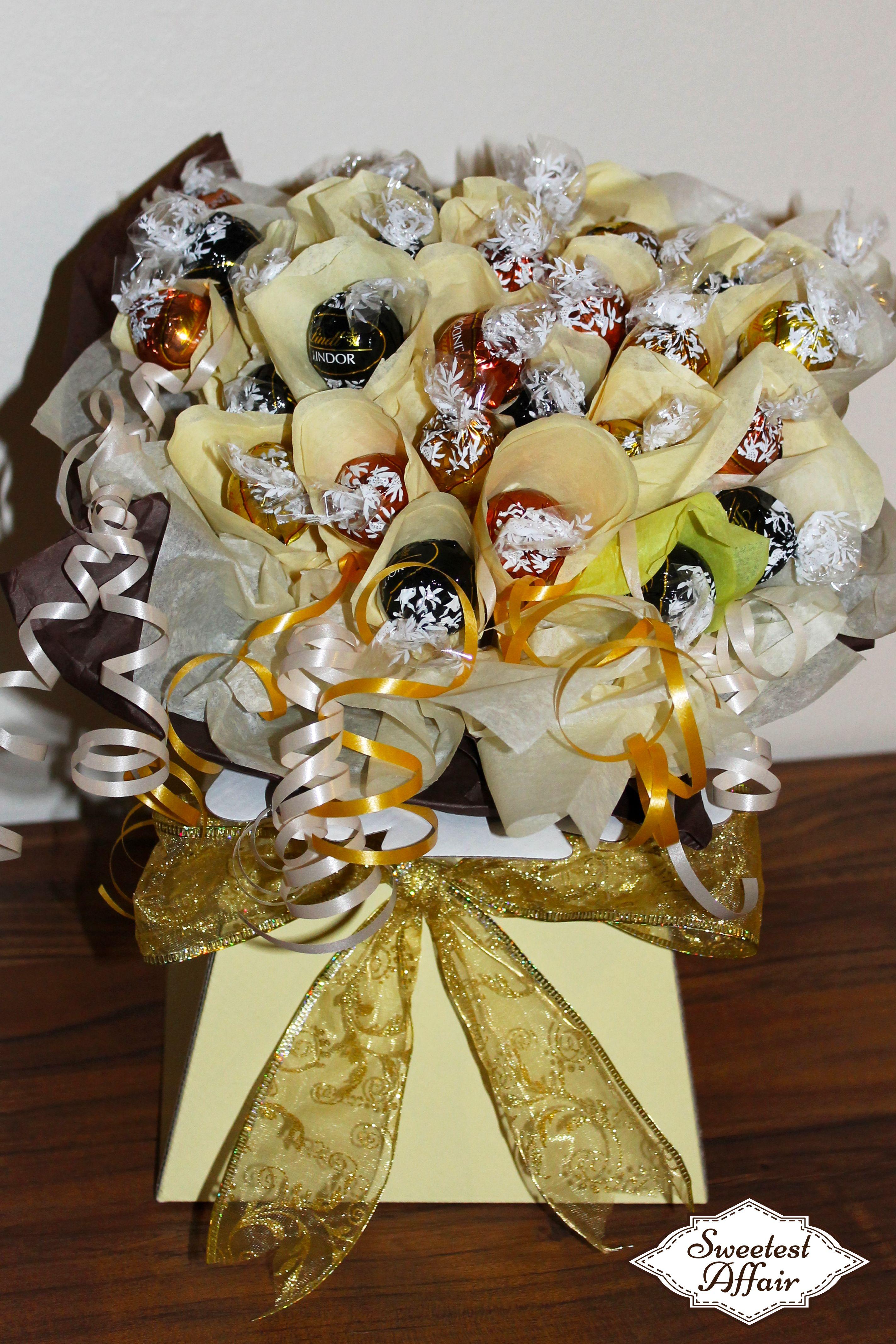 Lindt lindor chocolate truffle sweet bouquet httpebay lindt lindor chocolate truffle sweet bouquet httpebay izmirmasajfo Images
