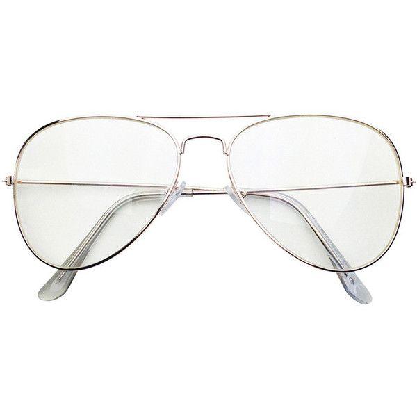 white aviator glasses  Gold Clear Aviator Glasses