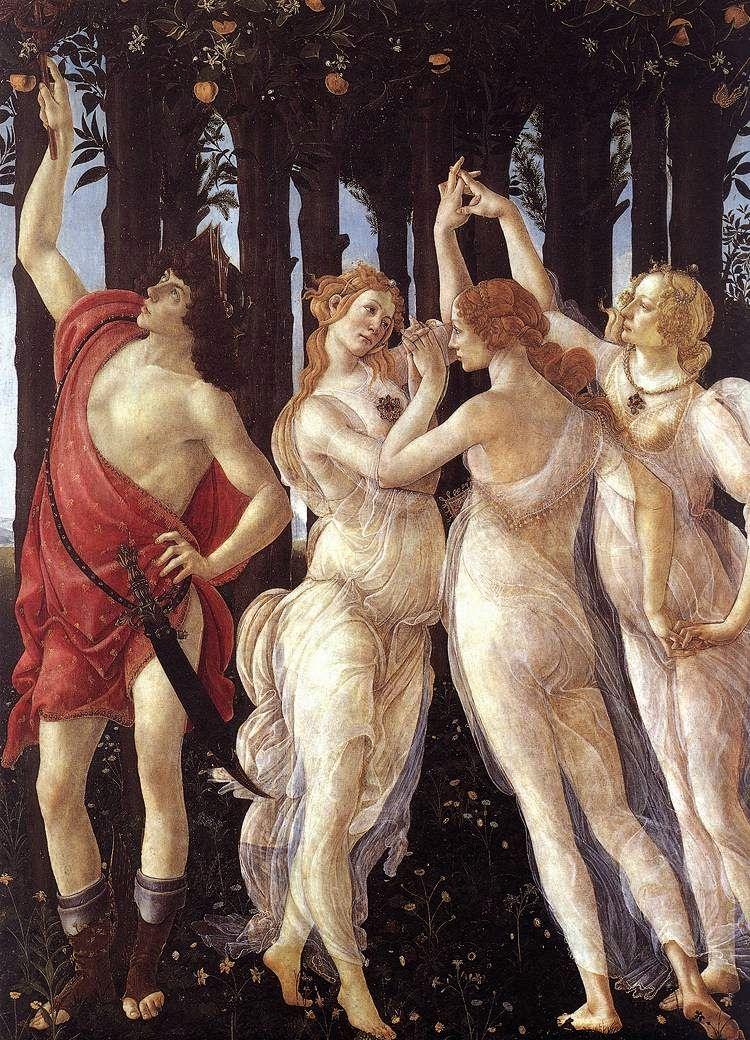 Sandro Botticelli La Primavera Las Tres Gracias Con Mercurio