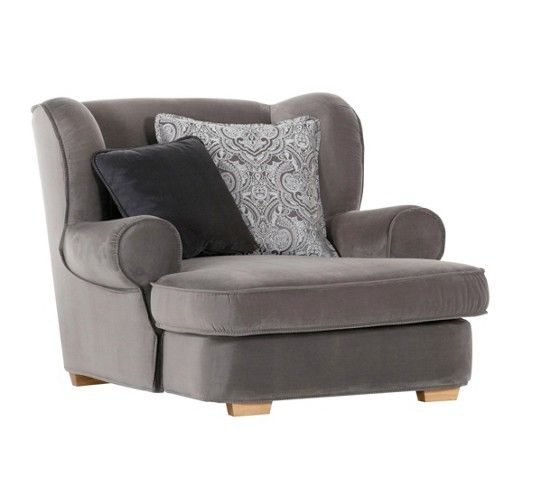 Sessel modern  Sessel aus 100% Polyester in der Farbe Grau, inkl. zwei Kissen. B ...