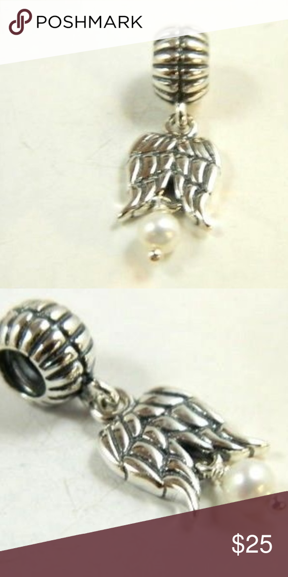 a5b386b54 Pandora Guardian Angel dangle pearl charm Pandora Charm Sterling Silver  790975P Guardian Angel 925 ALE pandora Jewelry Bracelets