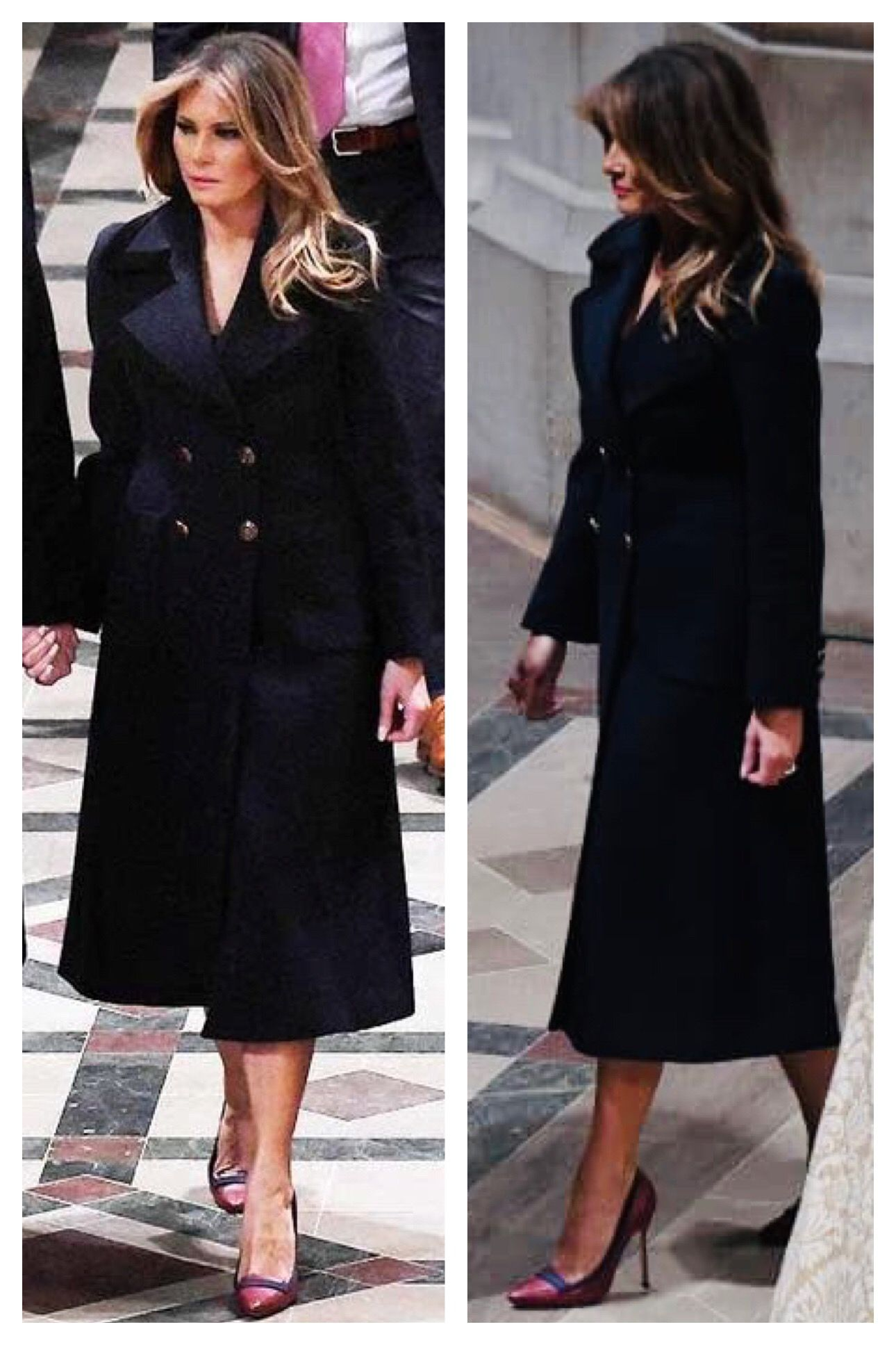 First Lady Melania Trump, Christmas Eve Service 2018