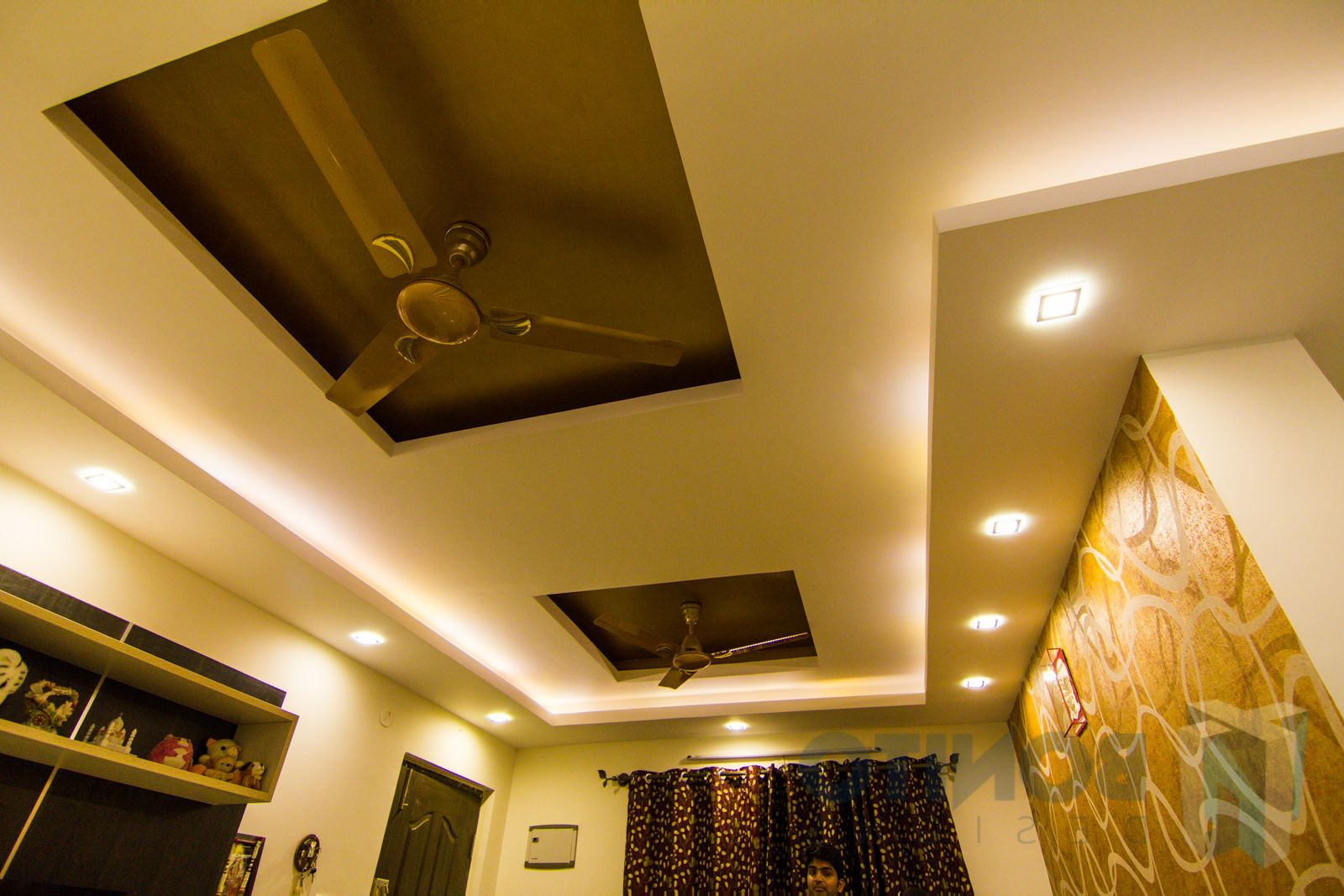 Inspirational Ceiling Design For Bedroom With Fan
