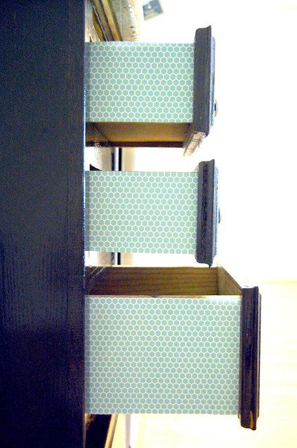 Trick Out Your Drawers With Scrapbook Paper Via Brit Co Craft