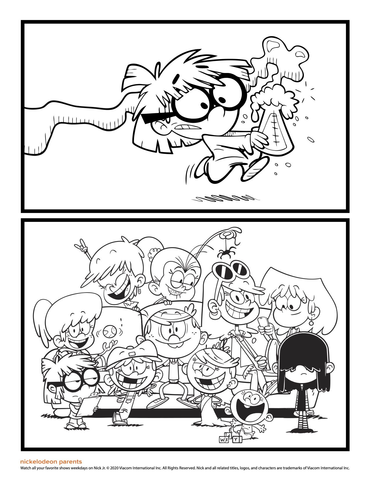 Coloring Book The Loud House Coloring Pages With Mom And Kids Drawings Luna From For Preschoolers 34 Tr House Colouring Pages Coloring Books Drawing For Kids