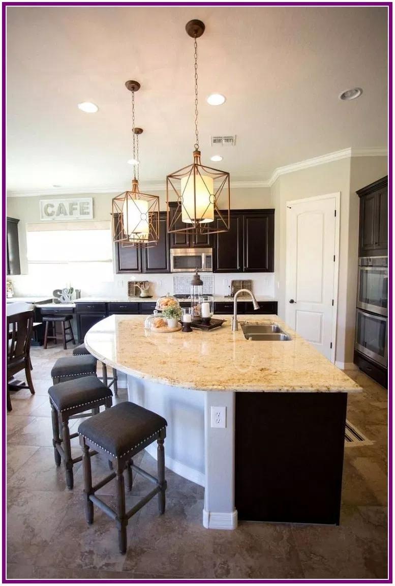 28 Stunning Kitchen Island Ideas Winzipdownload Org Curved Kitchen Island Kitchen Remodel Small Curved Kitchen