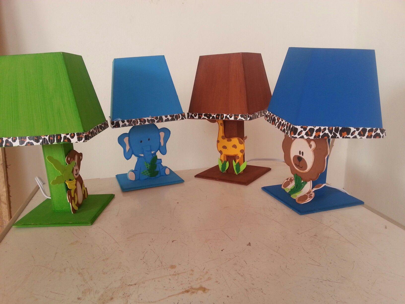 Veladores animalitos de la selva para centros de mesa - Dibujos infantiles originales ...