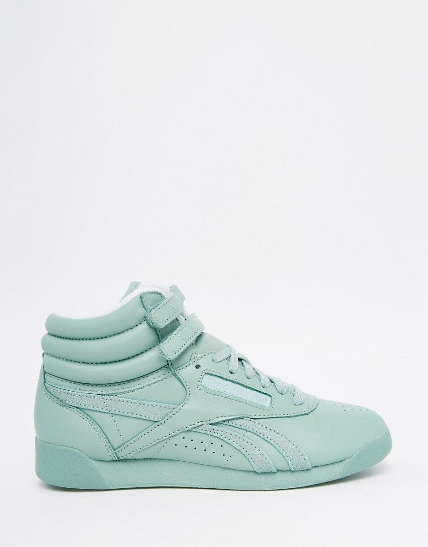 Image 2 of Reebok Freestyle Hi Spirit Mint Green Sneakers 4d08ad9fd