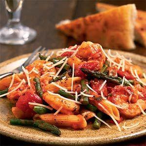 Shrimp Asparagus And Penne Pasta