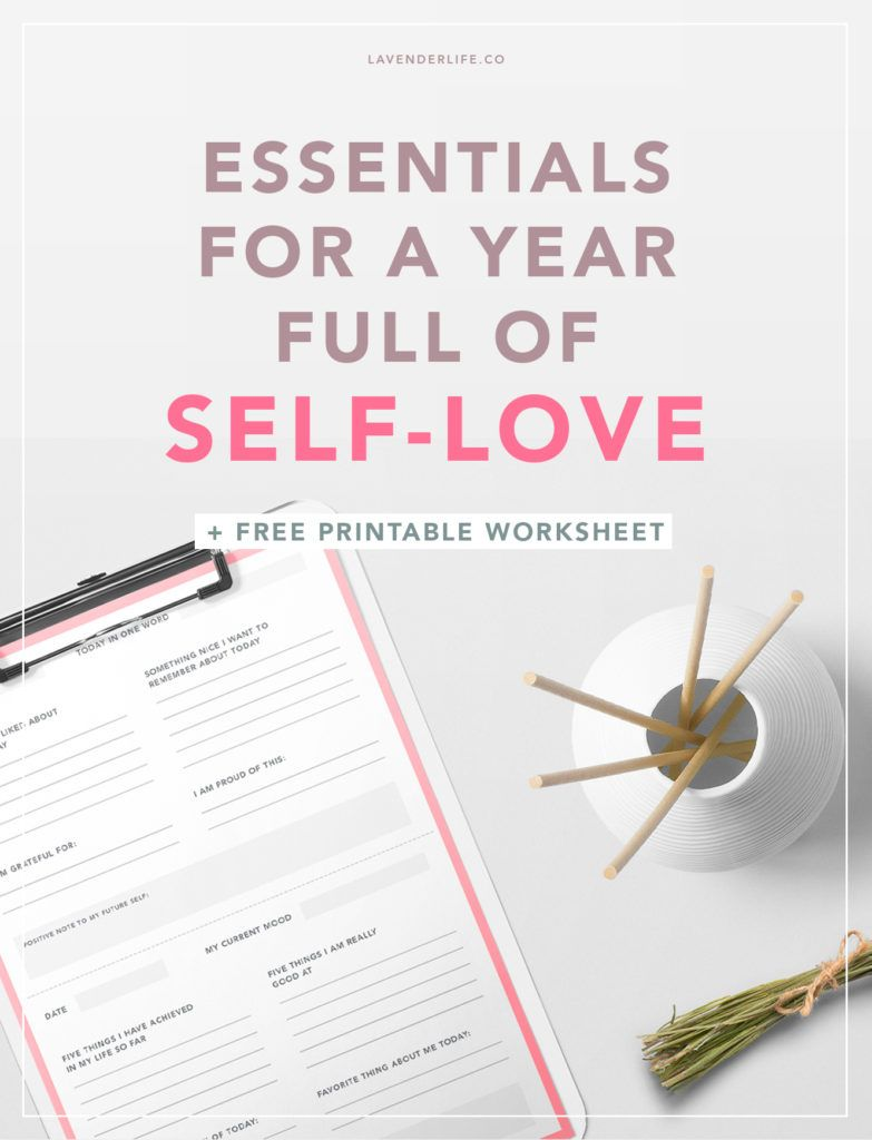 worksheet Positivity Worksheets must haves for a year full of self love printable worksheets happiness