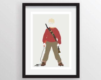 Home Alone Kevin Mccallister Minimalist Poster Print Minimal Wall Art Limited Edition Of 250 Alone Art Home Alone Winter Wonderland Christmas Party