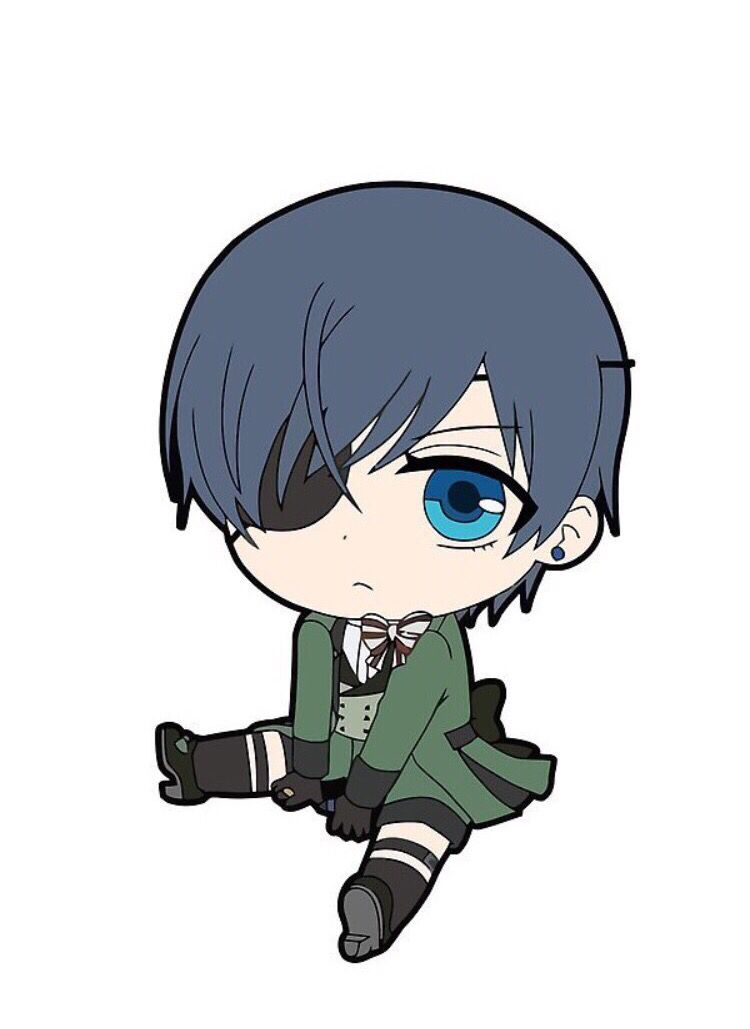 Black butler ciel phantomhive chibi stickers by chibify