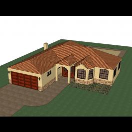 Spanish Villa Sketchup Model Spanish Villas House Styles Villa