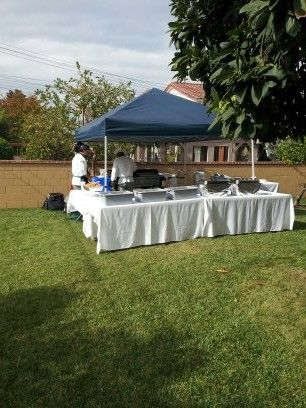 TFMG setting it up for our clients! Contact us to book your next event: 951-392-6408 www.TacoFreshMobileGrill.com