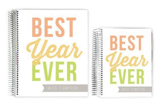 Teacher Planners - Happy Best Year Custom Teacher Planner