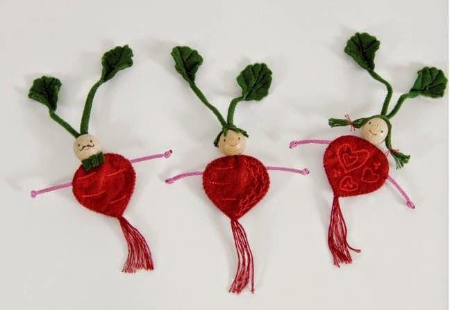 El blog de Dmc: Nuevos kits de fieltro legumbres