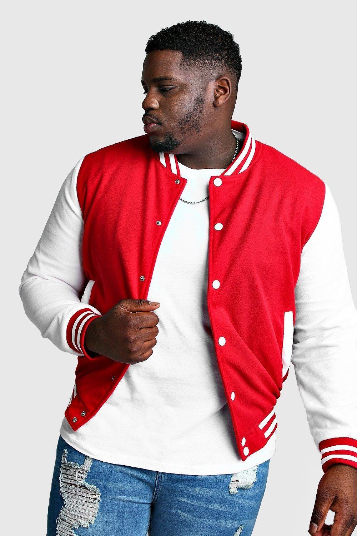 Men S Plus Size Varsity Bomber Jacket Boohoo Varsity Bomber Jacket Borg Collar Denim Jacket Mens Plus Size [ 1500 x 1000 Pixel ]