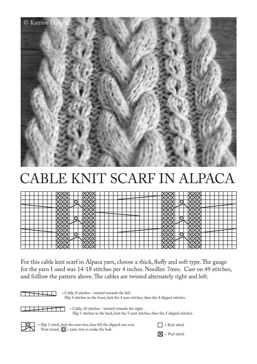 Cable Knit Scarf Patterns 32 Learn How To Knit Cables Knitting