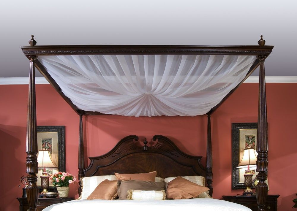 Our Bedroom I Think I Would Like To Add This To The Drapes Modern Canopy Bed Bed Decor Remodel Bedroom