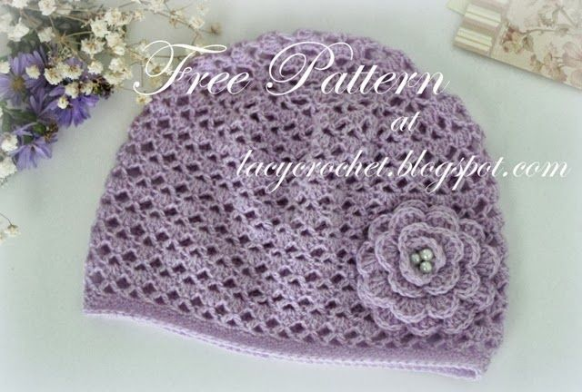 Lacy Crochet Cashmere Crochet Baby Hat Size 12 Months Free