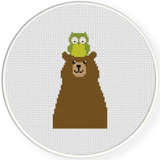 FREE for Dec 4th 2015 Only - Owl And Bear Cross Stitch Pattern